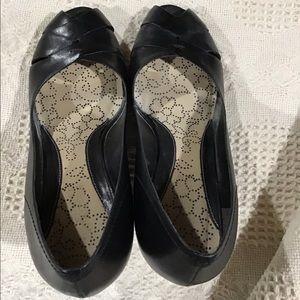 Nine West Shoes - Peep-toe Leather Wedge Shoes